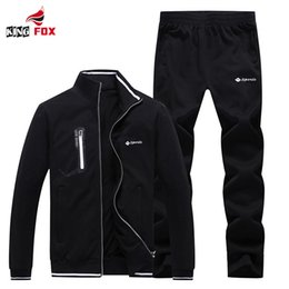 Wholesale Track Suits Jackets - Wholesale- High quality winter jacket men women Sportswear suit men's Brand clothing outwear sportsuit lovers cotton track suit size 5XL