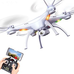 Wholesale Syma Rc Helicopter Free Shipping - Original Drones SYMA X5SW WIFI RC Drone FPV Helicopter Quadcopter with HD Camera 2.4G 6-Axis Real Time RC Helicopter Toy Free Shipping oth14