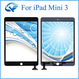 Wholesale Ipad Mini Digitizer Wholesale - High Copy Quality Black & White Touch Screen For iPad Mini 3 Digitizer Front Glass Cover Digitizer Asssembly Replacement One By One Check