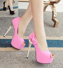 60446e10ed Bombas de plataforma de-rosa doce gravata borboleta strass peep toe tamanho  sapatos de casamento de dama de honra camurça preta 34 a 39