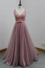 Wholesale Buy China Stocks - Buy direct from china ! Real photos in stock soft tulle burgundry stones pearl evening dresses for graduation white pink apple