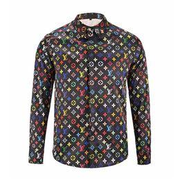 Wholesale Polka Dot Fashion Wear - 2017 Italian luxury brand medusa's China wind long-sleeve printed men's shirt, business casual wear men's lapel date party fashion party