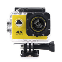 Wholesale Blue Screen Photo - HD 4K Action camera WiFi 2.0 inch screen Video Helmet photo Cam under water 30M waterproof Mini camera