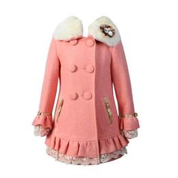 Wholesale Girls Parkas - Wholesale-2016 Girls Winter Faux Wool Collar Coats Warm Jacket Long Outerwear Parka Overcoat