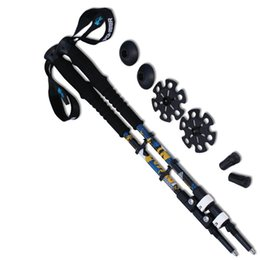 Wholesale Wholesale Telescopic Walking Poles - Wholesale-2pcs lot 7075 Aluminum Hiking Stick Nordic Walking Stick Outdoor 65-135cm Telescopic Handle Climbing Equipment Trekking Poles