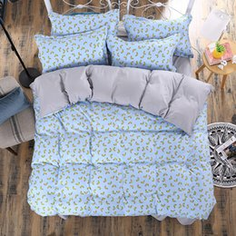 Wholesale Cheap Comforter Sets Full Size - 2016 Cheap 3D Bedding Sets 4pcs Charming Blue Roses Pattern Design Printed Comforter Sets Queen Size Duvet Cover Bed Sheet