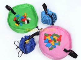Wholesale Sitting Bags - 500pcs Free Shipping 45cm Small size Portable Kids Children Baby Play Mat Large Storage Bags Toys Organizer Blanket Rug Boxes