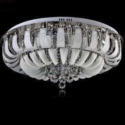 Wholesale Ceiling Decoration Office - New Modern Round crystal chandeliers Minimalist ceiling lamp E14 led glass chandelier hang lights living room bedroom decoration 1pcs DHL