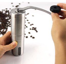 Wholesale Hand Coffee Mills - Coffee Bean Grinder Stainless Steel Hand Manual Handmade Coffee Grinder Mill Kitchen Grinding Tool For Home Restaurant Cafe Bar