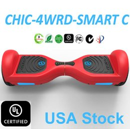Wholesale Usa Wheels Self - UL 2272 Hoverboard USA Stock IO CHIC 4WRD Smart Electric Scooter Self Balancing Scooters Smart Balance Drifting Board Samsung Battery Ce UL