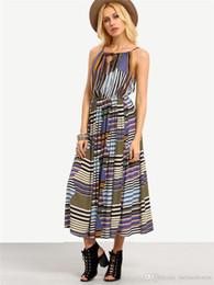 288386881f9 2017 Summer Women Blue Printing Flower Long Beach Dresses For Holiday Ladies  Slash Neck Harness Strapless Dress Clothing NN-043