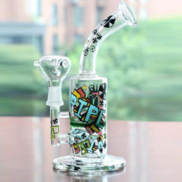 Wholesale oil cool - 2016 new Arrival Cool Colored Logo Glass Bong Oil Rig Percolator bongs Hookahs Smoking pipes Fashion bong Free shipping