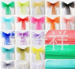 Wholesale Tulle Chair Covers - 2016 Chair Sash for Weddings with Big 3D Organza Ruffles Delicate Wedding Decorations Chair Covers Chair Sashes Wedding Accessories YS3