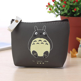 Wholesale Totoro Card - Wholesale-Hot Sale Totoro Cute Cartoon Coin Purse Bag Casual Zero Headset Package Business Zip Credit Card Purse Keychain Pouch Women Bags