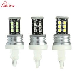 bmw e46 ampoules Promotion T20 3156 3157 15-3528-SMD Feux diurnes à LED Feu de recul DRL Lampe de recul Up Blue Ice Blanc Ambre