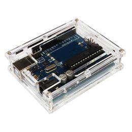 Wholesale Arduino Uno Case - Useful Transparent Acrylic Protective Case for Arduino UNO R3 DIY Module Board Demoboard Shell
