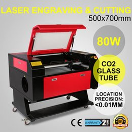 Wholesale Co2 Laser Engraving Cutting Machine - 80W CO2 Laser Laser Engraver Engraving Cutting Machine With Color Screen 700*500mm