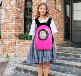 Wholesale Black Pet Carrier - Space Capsule Astronaut Pet Cat Carrier Backpack Bubble Window for Kitty Puppy Small Dog Outdoor Breathable Travel PC Bag Case