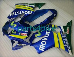 Wholesale Movistar Tops - 3 Free gift NEW TOP quality ABS Fairing kits for HONDA CBR600F4 99 00 CBR600 F4 1999 2000 CBR 600F4 99 00 1999 2000 movistar