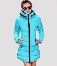 Wholesale Ladies Down Coat Medium - New Women's cotton-padded jacket 2015 winter medium-long down cotton plus size jacket female slim ladies jackets and coats