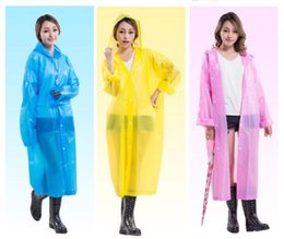 Wholesale Cheapest Long Coats Women - newest Cheapest Long Use Rain Coat Women EVATransparent Raincoat Portable 0.14kg wholesales OEM fast delivery