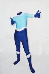 Wholesale Teen Spandex - Teen Titans Aqualad Superhero Costume Blue & Light Blue halloween Spandex mens Aqualad costume The most popular