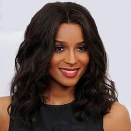 Wholesale Affordable Hair - Remy Hair Wigs Affordable Natural Ciara Medium Wavy Lace Wig 100% Real Human Hair Wigs 16 Inch Full Lace Wigs Front Lace Wigs Bella Hair