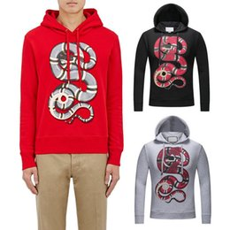 Wholesale Winter Jumpers For Men - Nice Quality Casual Sweatshirt Men Printed Snake Hooded Pullover Long Sleeves Fall Winter Jumper For Male