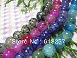 """Wholesale Dragon Vein Beads Free Shipping - Wholesale 4 strands free Shipping Fashion Style diy 8mm Violet pink Black blue Dragon Veins Agate beads Round Beads15"""" GE0791"""