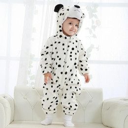 Wholesale Baby Winter Leopard Rompers - 3 colors New styles Toddler Baby Rompers Snow leopard modeling Animal Jumpsuit Autumn Winter Outfits Infant Hooded Single Flannel romper