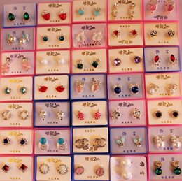 Wholesale Wholesale Free Delivery - Mix delivery with little box!! Diamond,Rhinestone, Crystal Earring, fashion style, Hign quality and Free Shipping