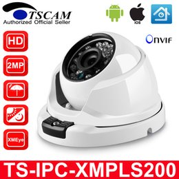 Wholesale Vandalproof Dome - TSCAM 3.6MM Lens HD 1080P VandalProof Anti-vandal Indoor Outdoor Dome IP Camera Metal Case IP66 With Mount ONVIF P2P
