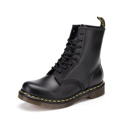 Wholesale Waterproof Wedge Winter Boots Women - Newest colorfull leather boots 1460 Winter ankle Style Dr. Genuine Leather fashion Boots Martin Shoes Women Men Dr Designer waterproof Boots