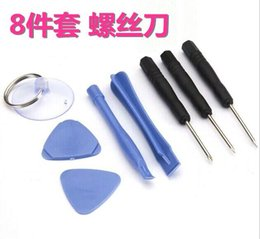 Wholesale Cheapest Iphone 5s - Cheapest Price!! 8 in 1 Screwdriver Sucker Pry Repair Opening Tool Kit Set For iphone 4 4s 4g 5 5c 5s 6 6plus 300sets lot