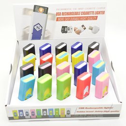 Wholesale Usb Rechargeable Cigarette Lighter - Rechargeable electronic cigaretter USB flameless Lighter Eco-Friendly portable Lighter also offer arc butane torch lighter