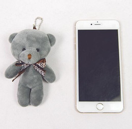 Wholesale Key Chain Teddy Bears - New cute bear ornaments plush bag pendant package decoration pendant key chain doll