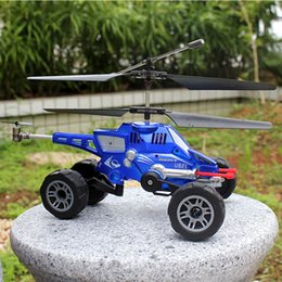 Wholesale Fire Motors - RC Drone UDI U821 RC Helicopter Quadcopter 3.5CH multi-purpose vehicles flying fired missiles Control driving on land flying Car