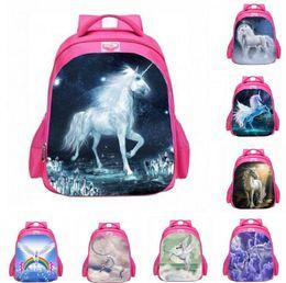 Wholesale Books For Children - Unicorn Print School Backpack for Big kids Children Big Capacity book bag 28*47*14cm travel backpack KKA2880