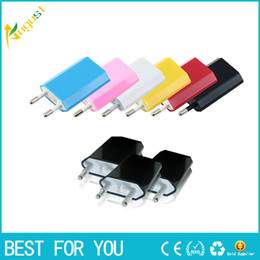Wholesale Travel Plug Usa - Universal EU USA fat Wall Adapter plug USB Home Travel Charger power Cube 1A e cigar for mobile smartphone 4s 5s android s3 s4 s5 note 3
