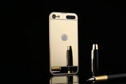 2019 caixas duras de alumínio Para a apple ipod touch 6 6g 6th 5 5o 5g de alumínio bumper + espelho bling quadro caso ipod6 ipod5 touch5 touch6 híbrido liga 2in1 casos difíceis cobrir caixas duras de alumínio barato