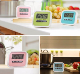 Wholesale Digital Count Up Down Timer - 2017 hot sale Christmas Gift Digital Kitchen Count Down  Up LCD display Timer  clock Alarm with magnet stand clip