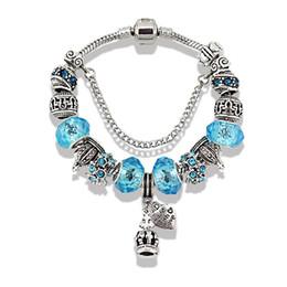 Wholesale Creating Flowers - 7 Colours Brand Bracelets European Charms 2016 New Style Crystal Created Diamond Charm Bracelet for Women Glass Beaded Bracelets