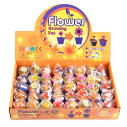Wholesale Novelty Gift Packaging - grow up flower baby kids Gifts Toy plant flowers single OPP packaging flowers Novelty Games Toy wholesale 1668