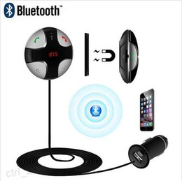 Wholesale Led Display Cell Phones - FM29B Universal Bluetooth Handsfree Car Kit LED Display Car Charger Support stereo sound output and FM Transmission For Cell Phone
