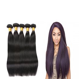 Wholesale Best Selling Hair Color - 8A grade best selling Malaysian Straight Hair Bundles virgin Remy Human Hair Extension Natural Black 3 Piece Can Be Mixed Ships Free