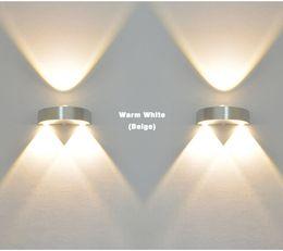 Aplique de pared de la nave online-Interior de 3W LED Lámpara de pared AC110V / 220V dormitorio Decorar aplique Frío Blanco / Cálido Blanco / Amarillo Luz 1 pcs / 1 lote Envío gratis
