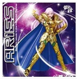 Wholesale Horn Products - Galactic Nebula Aries Mu Action Figure Saint Seiya Myth Cloth EX toy Cavaleiros do zodiaco with KIKI head and Metal horns