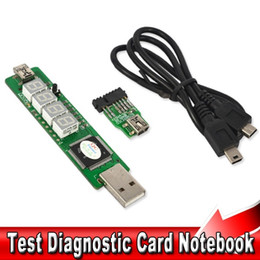 Wholesale Post Tests - T Notebook Battery Test Adapter 4 Digit SM BUS Computer Mainboard POST Diagnostic Card For IBM T61 R61 T400 T500 X200 W500 PC
