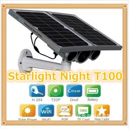 Wholesale Ip Camera Solar Power - HW0029-3 Gen Solar Power Starlight IP Camera Onvif Wireless WiFi 720P HD 8mm Lens Night Vision 100m Network Waterproof Remote View