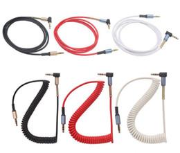 усилитель громкоговорителей для компьютера Скидка 3,5 мм аудио Aux кабель Джек позолоченные 90 градусов угол весной аудио кабель для iphone автомобиля